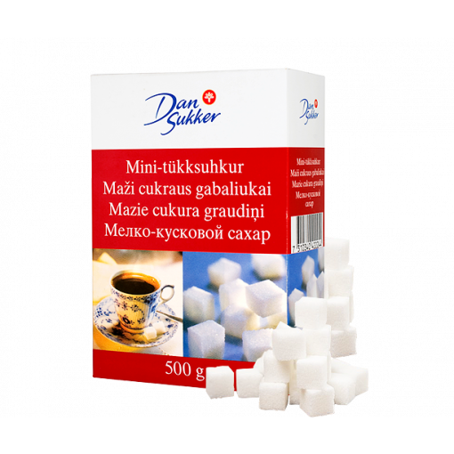 Mazie cukura graudi DANSUKKER baltie, 500 g