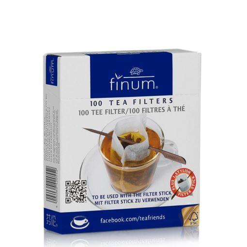 Tējas filtri FINUM ar kociņu, 100 gab