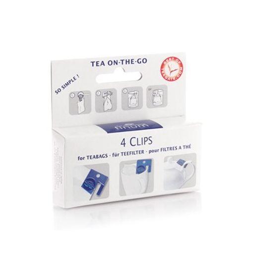 Tējas filtru turētāji FINUM Clips, 4 gab