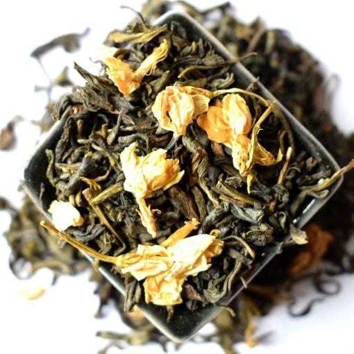 Ķīnas Jasmīnu ar ziediem, zaļā tēja