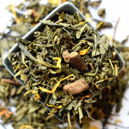 zaļā aromatizētā tēja