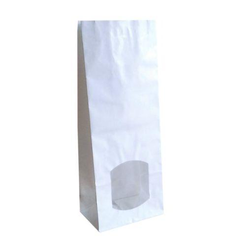 Iepakojuma maisiņš, balts ar lodziņu