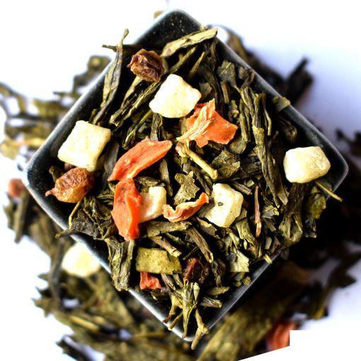 Smiltsērkšķi zaļā aromatizētā tēja