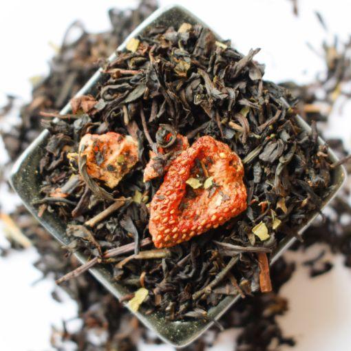 Strawberry, melnā aromatizētā tēja
