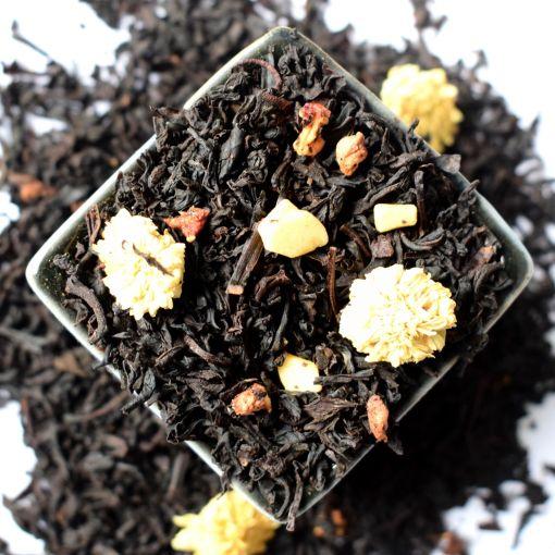 Zemenes ar Krēmu melnā aromatizētā tēja