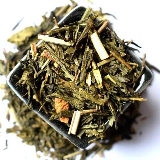 Žeņšeņs un Citrons zaļā aromatizētā tēja